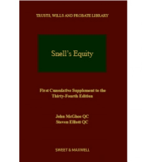 Snell's Equity 34th ed: 1st Supplement