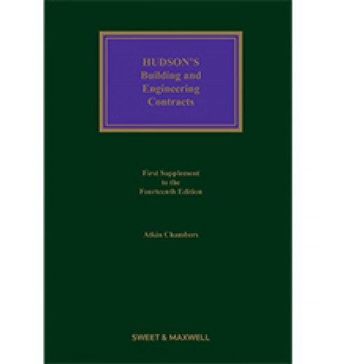 Hudson's Building and Engineering Contracts 14th ed: 1st Supplement