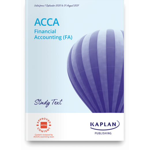 ACCA F3 (FA) Financial Accounting TEXTBOOK 2020-2021