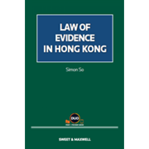 Law of Evidence in Hong Kong  + Proview (Practitioner / Student Version)