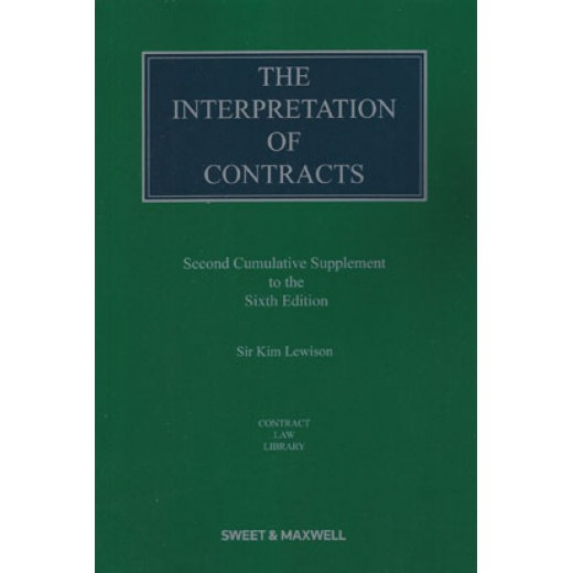 The Interpretation of Contracts 6th ed: 2nd Supplement
